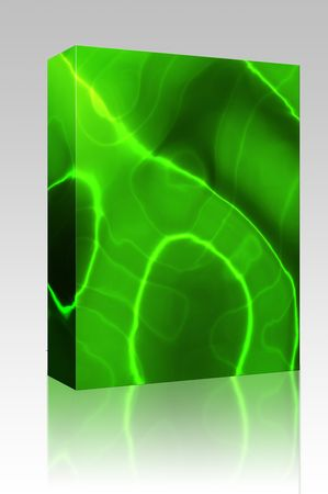 Software package box Abstract wallpaper illustration of wavy flowing energy and colors Stock Illustration - 5642009