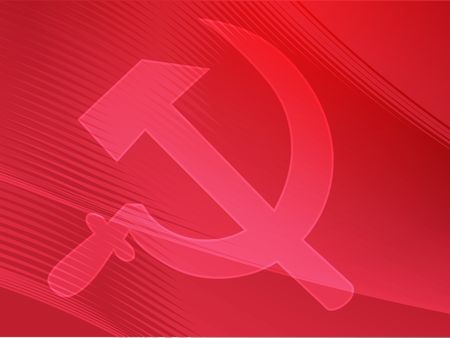 Soviet USSR hammer and sickle political symbol Stock Photo - 5641962