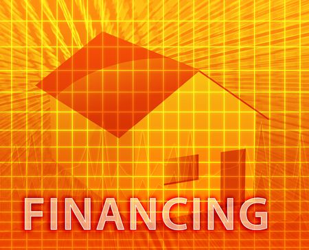House financing digital collage illustration, subprime loan Stock Illustration - 5648217