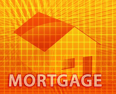 House financing digital collage illustration, subprime loan Stock Illustration - 5648211