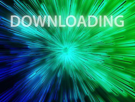 uploading: Online illustration, showing information transfer and flow Stock Photo