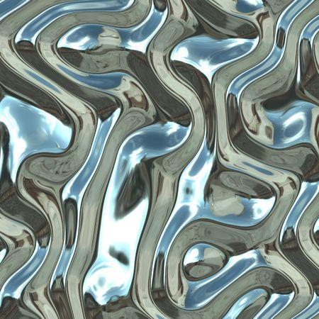 warped: Warped reflective chromed metal surface texture background