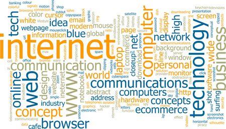 Word cloud concept illustration of internet web illustration