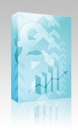 Software package box Abstract financial success illustration with pound currency illustration