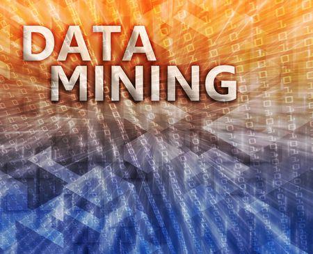 Data mining abstract, computer technology concept illustration Stock Illustration - 5685943