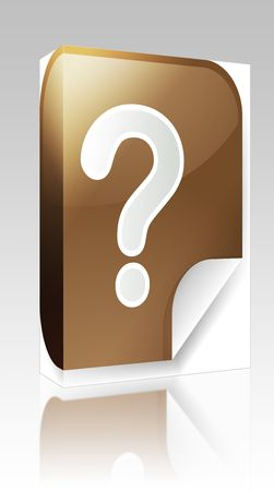 Software package box Navigation icon sticker button with question mark photo