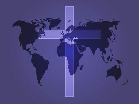 protestant: Christian church cross, religious spiritual symbol illustration