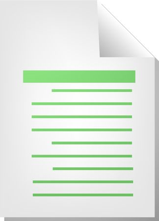 Text writing document file type illustration clipart Stock Illustration - 5685746