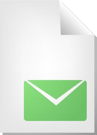Letter envelope document file type illustration clipart illustration