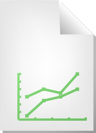 Line graph, document file type illustration clipart Stock Illustration - 5685768