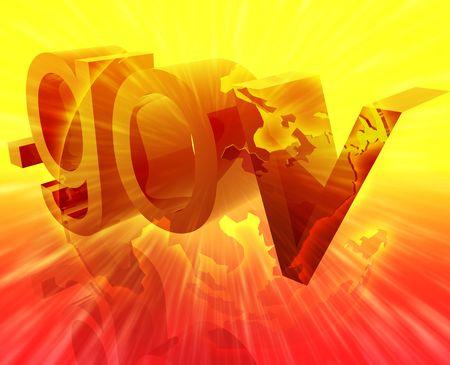 url: Dot gov internet web url Asia worldwide illustration