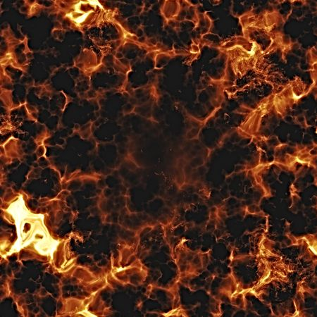 Fiery explosion and flames texture, rendered illustration illustration