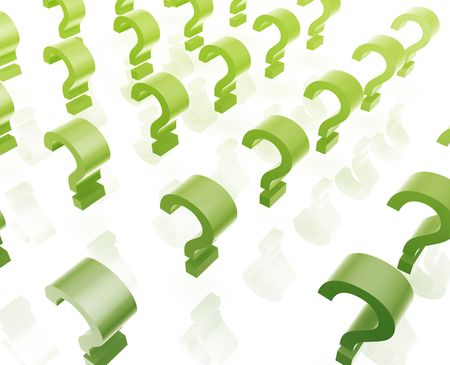 interrogative: Question mark illustration glossy isolated many in group