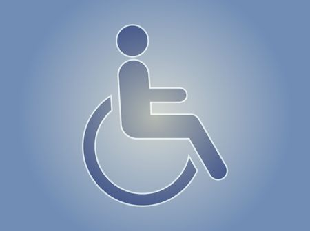 physically: Handicap symbol illustration icon of wheelchair clipart Stock Photo