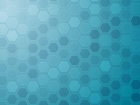 hexagonal: Abstract wallpaper illustration of geometric hexagon pattern Stock Photo