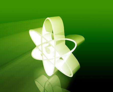 Atomic nuclear symbol scientific illustration of orbiting atom Stock Illustration - 5687710