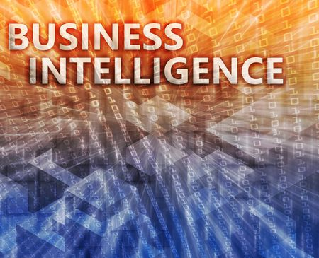 Business intellegence abstract, computer technology concept illustration Stock Illustration - 5688011
