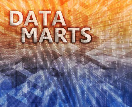 Data mart abstract, computer technology concept illustration Stock Illustration - 5688014