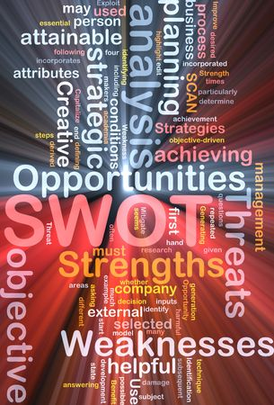 Software package box Word cloud concept illustration of SWOT strengths weaknesses Stock Illustration - 5687931