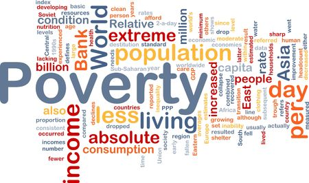 capita: Word cloud concept illustration of income poverty