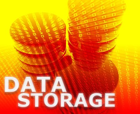 Data storage abstract, computer technology information concept illustration Stock Illustration - 5687993