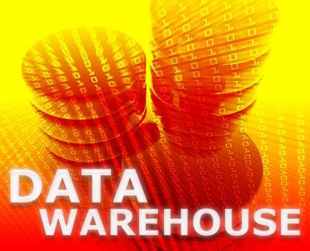 Data warehouse abstract, computer technology information concept illustration Stock Illustration - 5687995