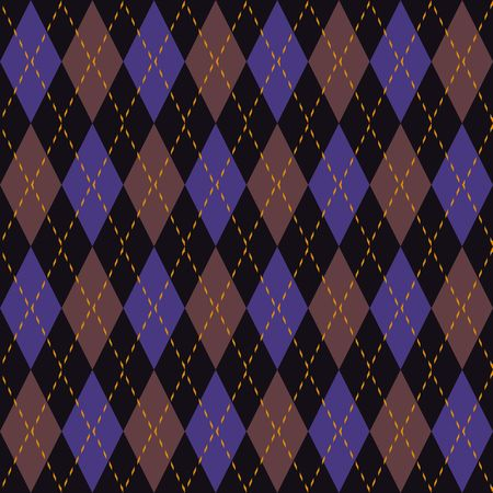 Argyle Knit Pattern Seamless Tiling Background Texture Stock Photo
