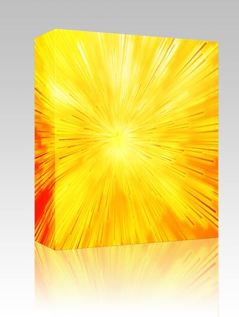 streaking: Software package box Central bursting explosion of dynamic lines of light