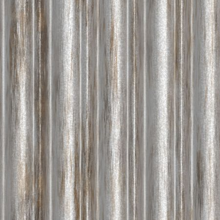 Corrugated metal ridged surface with corrosion seamless texture  Stock Photo - 5738927