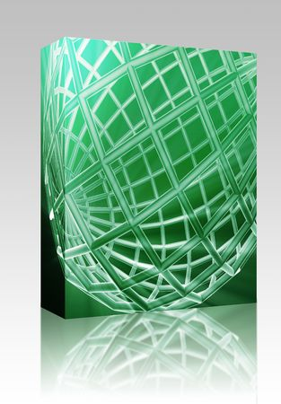 globe grid: Software package box Abstract globe grid wireframe sphere illustration background