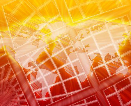 globe grid: Abstract globe grid wireframe international world map illustration