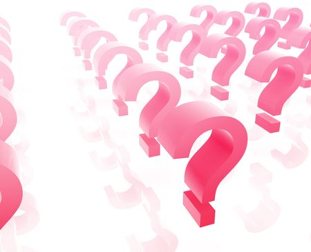 punctuate: Question mark illustration glossy isolated many in group