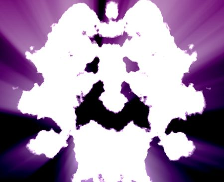 Psychiatric treatment mental health rorschach inkblot concept background photo