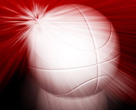 Basketball ball illustration glossy glowing background wallpaper illustration