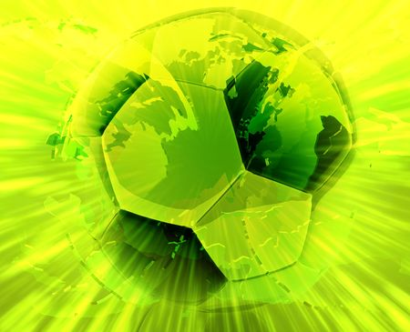 exciting: International wordlwide modern soccer ball abstract wallpaper background Stock Photo