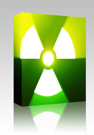 Software package box Illustration of radiation hazard warning alert symbol Stock Illustration - 5738969