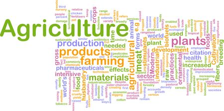 pastoral: Word cloud concept illustration of agriculture farming