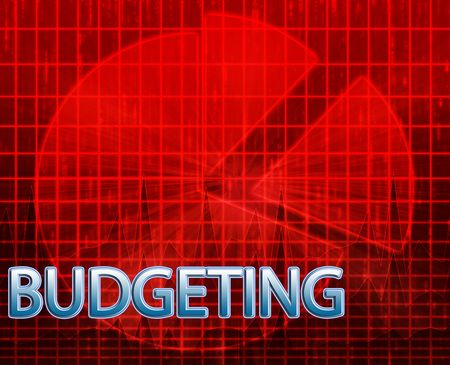 budgeting: Illustration of financial budgeting finance and business pie chart Stock Photo