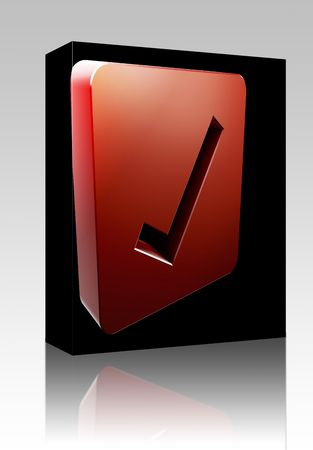 Software package box Yes navigation icon glossy button, square shape Stock Photo - 5753175