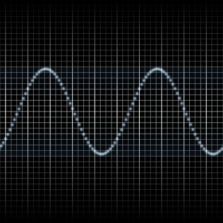 audiowave: Abstract generic science audio waves measurement display illustration