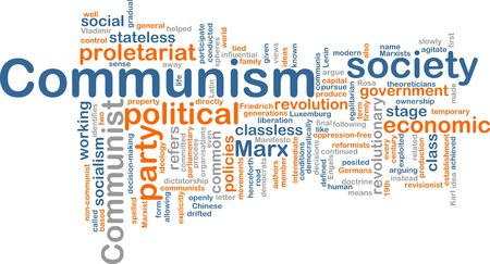 stateless: Word cloud concept illustration of comunism economy Stock Photo