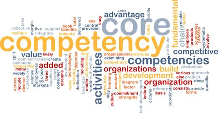 core: Word cloud concept illustration of core comptency