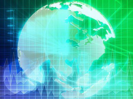 International Asian global finance trends background abstract illustration   illustration