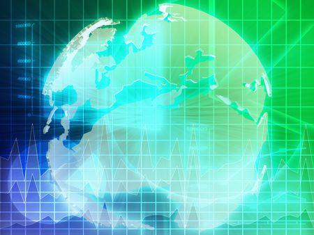 International Europe global finance trends background abstract illustration   illustration