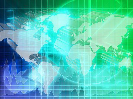 International global finance trends background abstract illustration   illustration