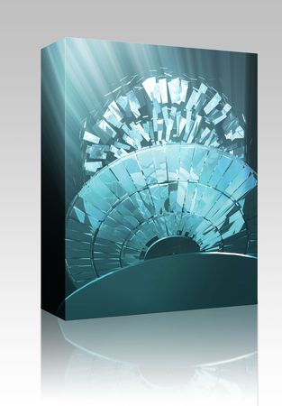 Software package box Data information loss and corruption illustration, shattered cd Stock Illustration - 5753106