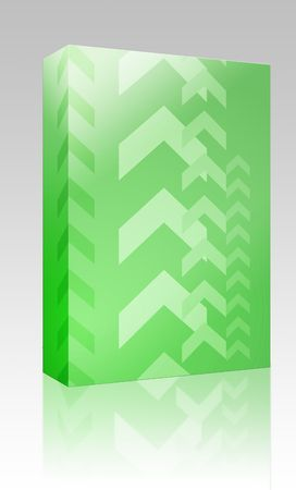 Software package box Abstract graphic design of upwards pointing arrows photo