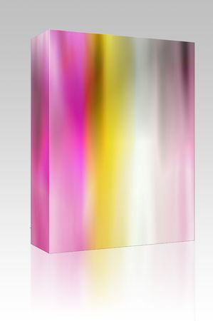 streaking: Software package box Glowing color energy aura, Abstract wallpaper illustration