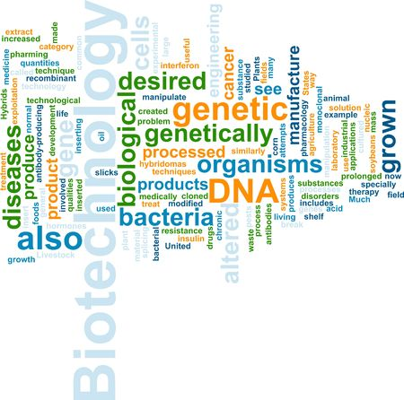 recombinant dna: Word cloud concept illustration of  biotechnology research