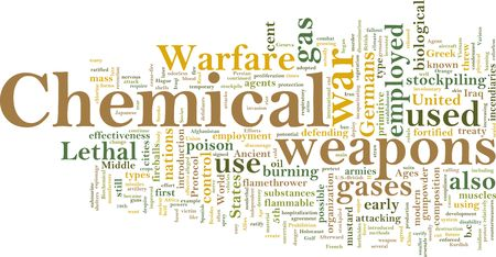 chemical weapons: Word cloud concept illustration of  chemical weapons Stock Photo